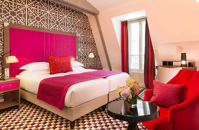 9 new boutique hotels in paris fodors travel guide. Black Bedroom Furniture Sets. Home Design Ideas