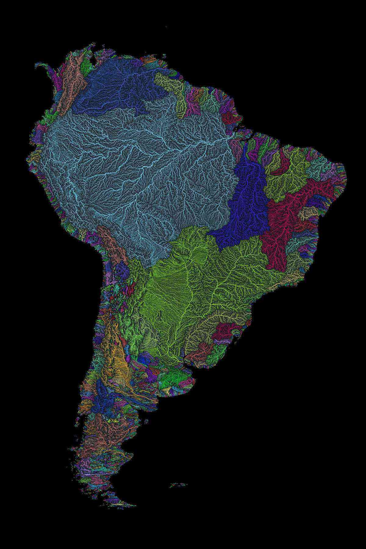 South_America_Rivers_Black_Catchments_Etsy2