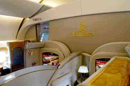 Look Inside Emirates Airlines First Classes Fodors Travel Guide