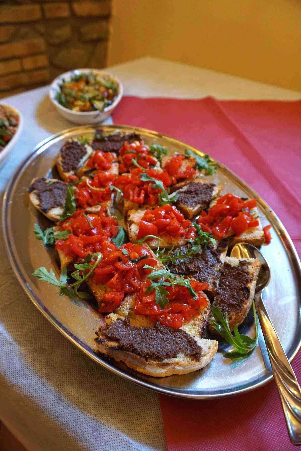 4. Bruschetta and olive tapenade