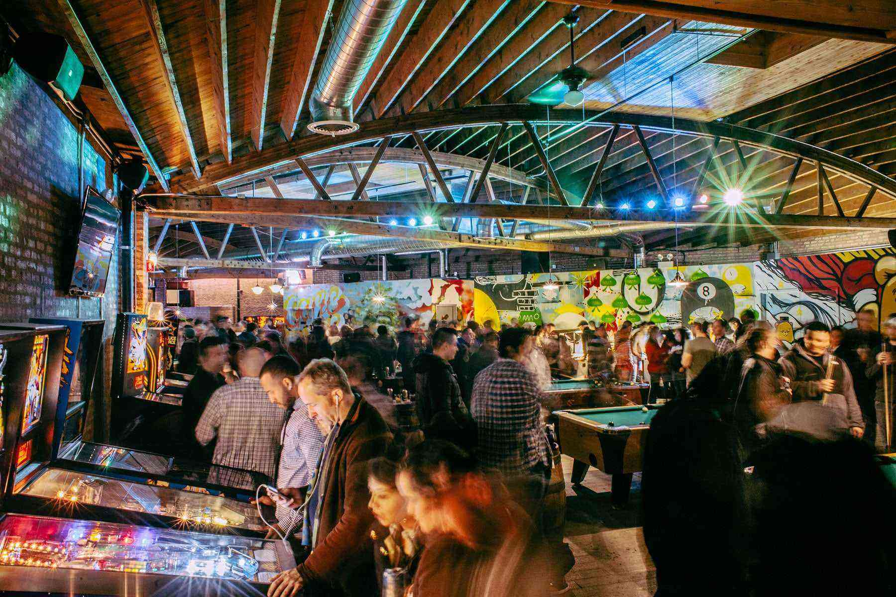 Level up your drinking game at these 15 bar arcades for Food bar drinking game