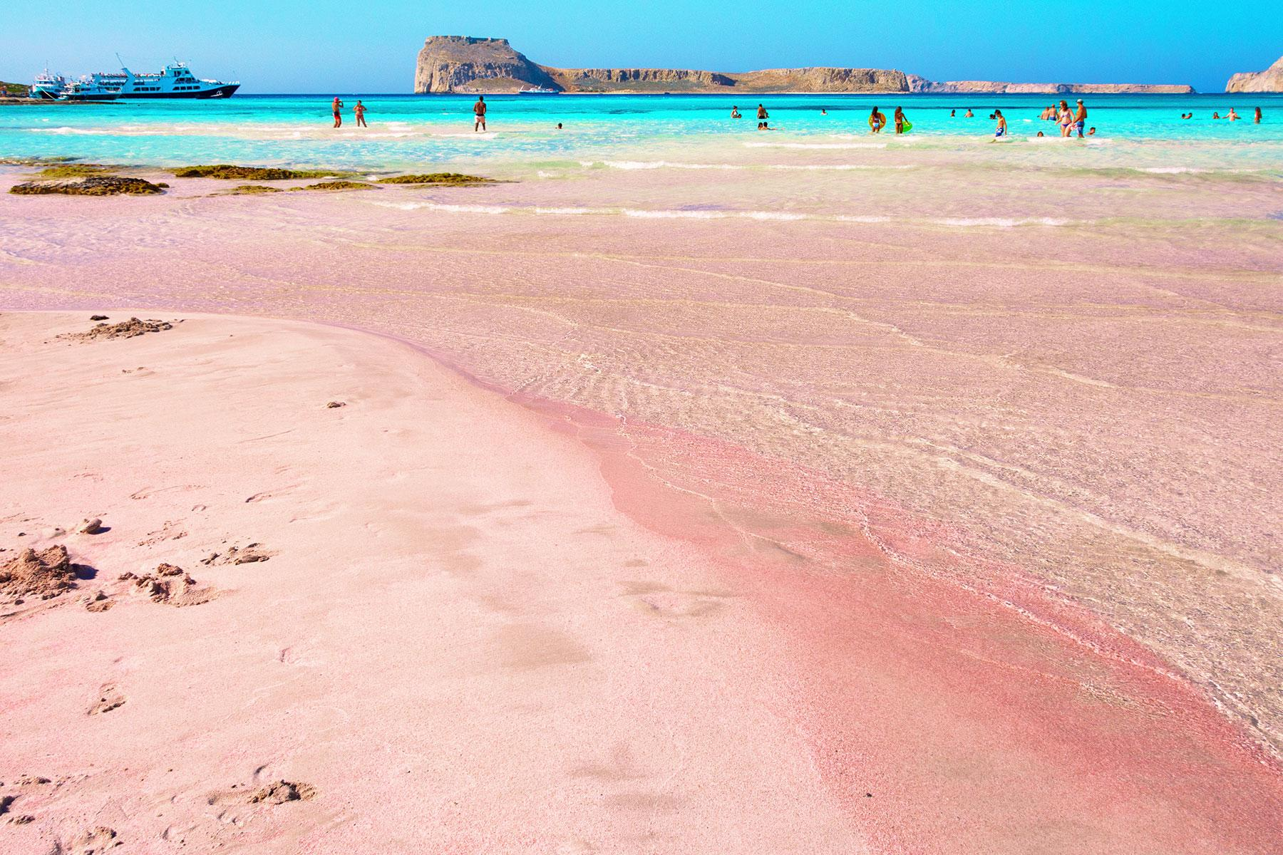 Pink Places Balos Bay Crete Greece