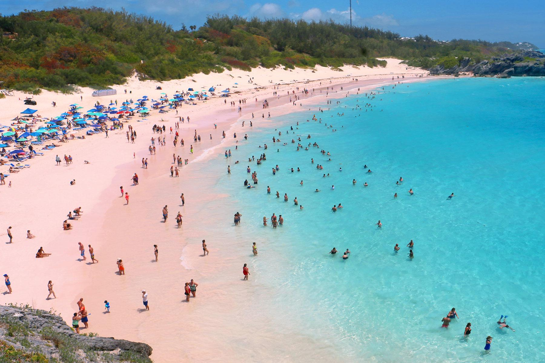 Pink Places Horseshoe Bay Beach Bermuda