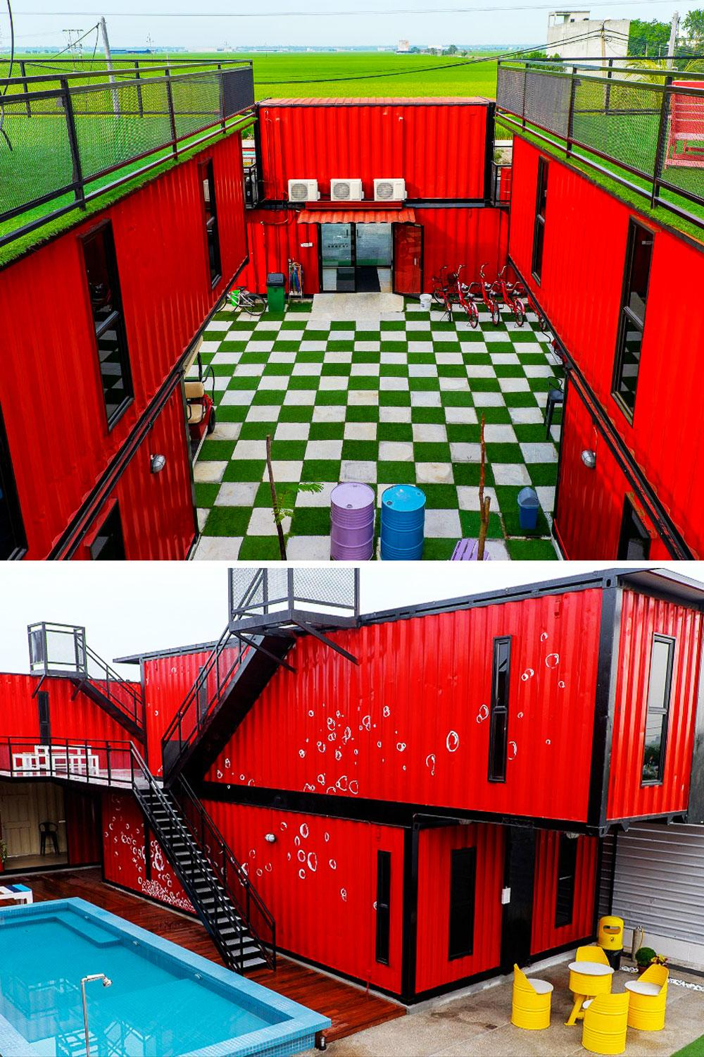 Eco Friendly Hotel Options 12 Places To Stay That Are Made From Maya Red Top Leux Studio Shipping Containers