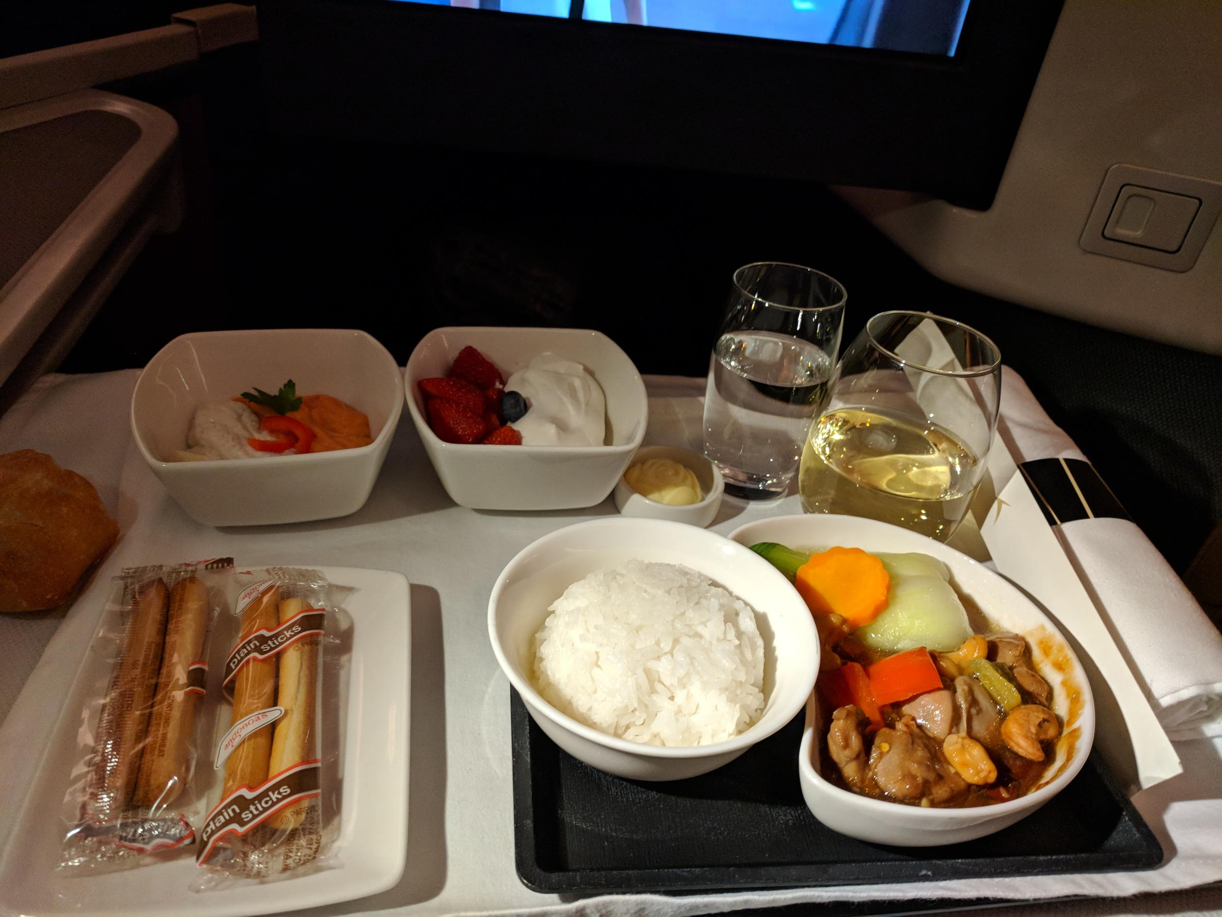 Flight, Meal, Kung Po Chicken
